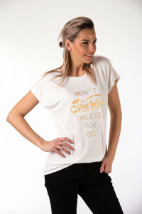 Montecristo - Tricou dama lejer cu mesaj imprimat