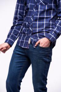 Timeout - Camasa slim fit cu maneca lunga si buzunar aplicat