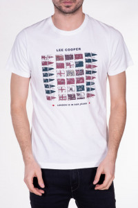 TRICOU MANECA SCURTA BARBAT OFF WHITE LEE COOPER