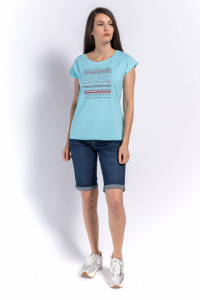 TRICOU MANECA SCURTA DAMA POOL BLUE KVL