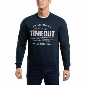 BLUZA MANECA LUNGA BARBAT TRUE NAVY TIMEOUT