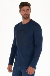 KVL - Bluza barbat din bumbac cu imprimeu texturat