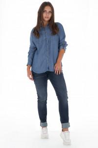 Lee Cooper - Camasa dama cu buzunare aplicate si maneci ajustabile