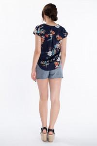 Lee Cooper - Camasa dama cu maneca scurta si imprimeu floral