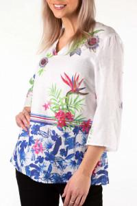 Montecristo - Camasa dama din in cu imprimeu floral