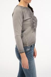 Timeout - Bluza maneca lunga cu imprimeu grafic si detaliu la spate
