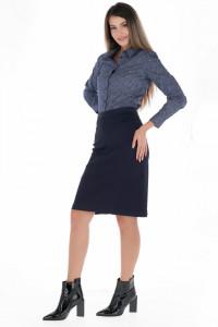 Timeout - Fusta clasica dama de culoare uniforma