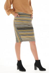 Timeout - Fusta dama cu buzunare si model imprimat