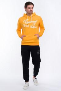 Timeout - Pantaloni de trening cu logo si buzunare cu fermoar