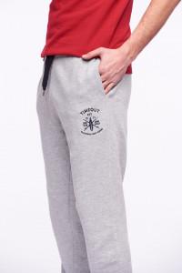 Timeout - Pantaloni de trening cu logo si snur ajustabil in talie