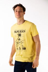 Timeout - Tricou barbat cu maneca scurta si imprimeu tropical