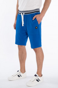 KVL - Bermude jogging cu buzunare si logo