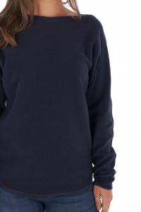 KVL - Pulover dama din bumbac cu material texturat