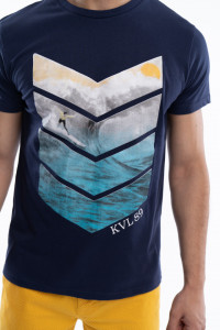 KVL - Tricou barbat cu imagine imprimata si logo