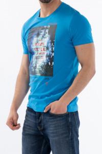 KVL - Tricou maneca scurta cu model imprimat