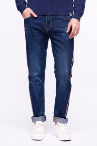Lee Cooper - Blugi slim cu banda in lateral