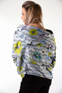 Montecristo - Esarfa dama cu imprimeu floral si detalii din paiete