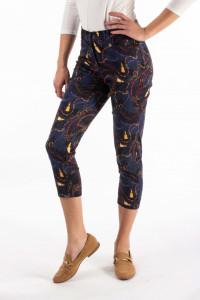 Montecristo - Pantaloni conici cu lungime 3/4 si imprimeu