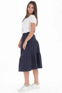 Timeout - Fusta dama din bumbac culoare uniforma