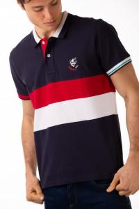 Timeout - Tricou barbat tip polo cu emblema brodata
