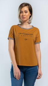 TRICOU MANECA SCURTA DAMA BROWN SUGAR KVL