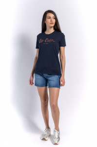 TRICOU MANECA SCURTA DAMA NAVY LEE COOPER