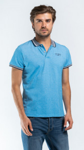 TRICOU MANECA SCURTA TIP POLO BARBAT LAKE BLUE LEE COOPER