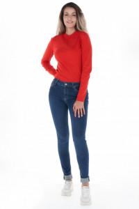 KVL - Blugi dama skinny de culoare uniforma