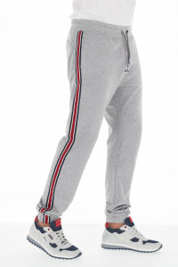 KVL - Pantaloni de trening cu dunga contrastanta pe picior