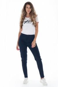 KVL - Pantaloni slim dama cu buzunare conice si culoare uni