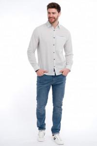 Lee Coooer - Camasa regular fit cu buzunar la piept