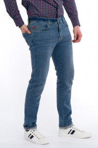 Lee Cooper - Blugi slim fit cu aspect decolorat