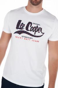 Lee Cooper - Tricou barbat din bumbac cu maneca scurta si logo