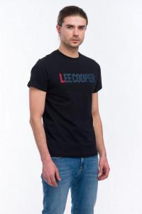 Lee Cooper - Tricou cu maneca scurta si logo imprimat