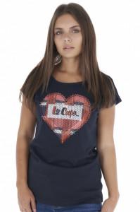 Lee Cooper - Tricou dama din bumbac cu model brodat aplicat