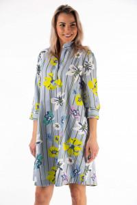 Montecristo - Rochie tip camasa din bumbac cu imprimeu floral