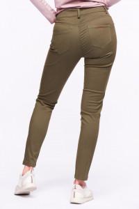 Timeout - Pantaloni lungi cu talie medie si culoare uni