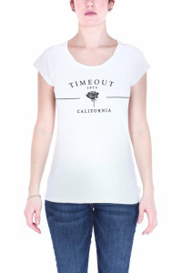 TRICOU MANECA SCURTA DAMA WHITE TIMEOUT