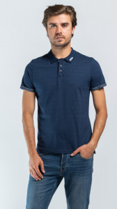 TRICOU MANECA SCURTA TIP POLO NAVY LEE COOPER