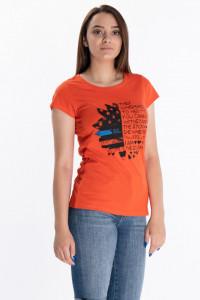 KVL - Tricou dama cu imprimeu tip mesaj