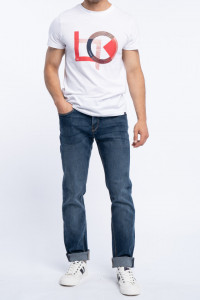 Lee Cooper - Blugi lungi barbat cu logo la buzunar