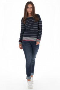 Lee Cooper - Pulover dama din bumbac cu model in dungi