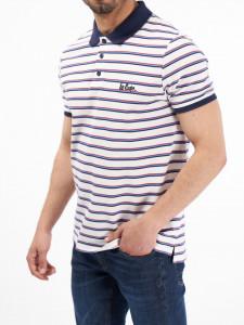 Lee Cooper - Tricou tip polo cu imprimeu in dungi