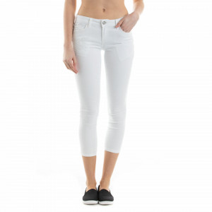 PANTALONI DENIM CAPRI DAMA WHITE TIMEOUT