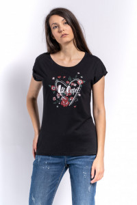 TRICOU MANECA SCURTA DAMA BLACK LEE COOPER