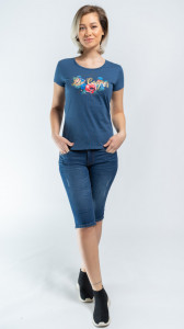TRICOU MANECA SCURTA DAMA DARK DENIM LEE COOPER
