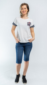 TRICOU MANECA SCURTA DAMA OFF WHITE LEE COOPER