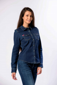 CAMASA DENIM MANECA LUNGA DAMA DARK BLUE LEE COOPER