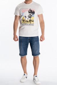 KVL - Tricou cu maneca scurta si imprimeu tropical