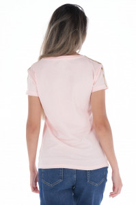 KVL - Tricou dama cu model din bumbac